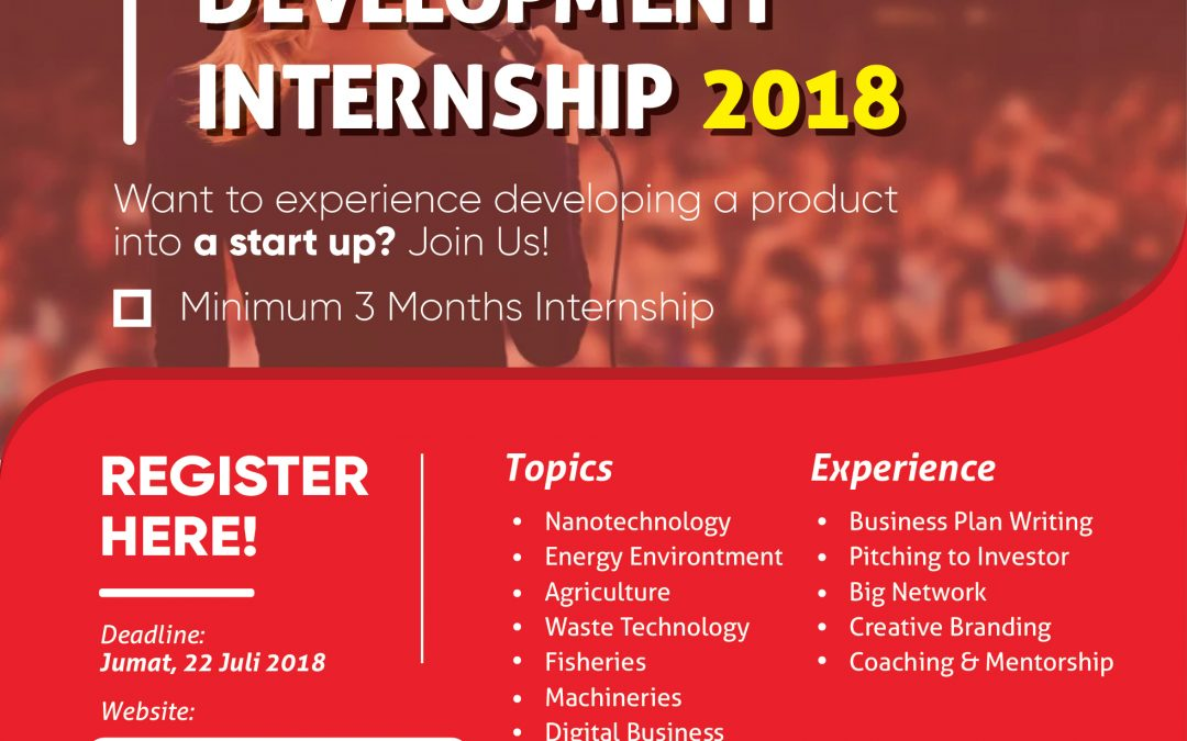 Technopreneurs Development Internship 2018
