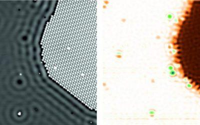 Penggunaan Mikroskop Quantum Dot Untuk Pengukuran Potensial Listrik Pada Atom