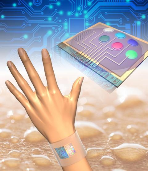 Sensor Pemantau Zat Kimia dalam Keringat